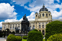 Maria Theresa's memorial and Natural History Museum in Vienna Royalty Free Stock Image