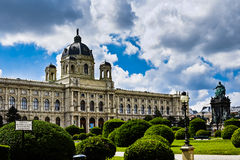 Maria Theresa's memorial and Natural History Museum in Vienna Stock Images