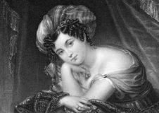 Maria Theresia Ahlefeldt. Born Princess Maria Theresia of Thurn and Taxis (1755-1810) on engraving from 1835. First female composer in Denmark. Engraved by Stock Photo