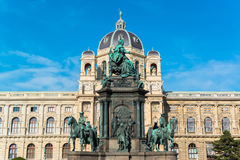 Maria Theresia kwadrat w Wiedeń Zdjęcie Stock