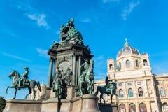 Maria Theresia kwadrat w Wiedeń Fotografia Stock