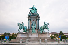 Maria Theresia monument in front of the Kunsthistorisches museum in Vienna, Austria. The monument was built in 1888. Royalty Free Stock Photography