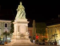 Maria Theresia monument i Klagenfurt, Österrike royaltyfria foton