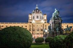 Maria Theresia Monument i Wien, Österrike Fotografering för Bildbyråer