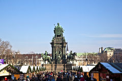 Maria Theresia Monument, in Vienna Stock Photo