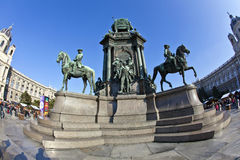 Maria Theresia Monument, in Vienna Royalty Free Stock Photo