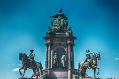 Maria Theresia and Natural History Museum Stock Photography