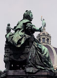 Maria Theresia statue in Vienna Stock Photos