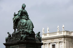 Maria Theresia statue in Vienna stock image