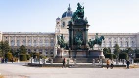 Maria Theresia zabytek na muzeum kwadracie w Wiedeń Obraz Royalty Free
