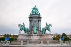 Maria Theresia zabytek przed Kunsthistorisches muzeum w Wiedeń, Austria Zabytek budował w 1888 Fotografia Royalty Free