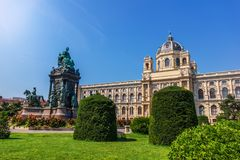 Maria Theresien Platz en Viena, Austria, ninguna persona imagen de archivo