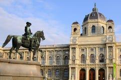 Maria-Theresien Platz et musée de Kunsthistoriches Image stock