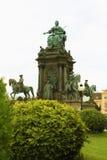 Maria-Therisien Platz en monument, Wenen, Oostenrijk Stock Foto