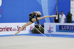 Maria Titova with hoop Stock Photo