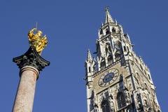 Maria und Stadthalle von München Lizenzfreie Stockbilder