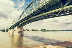 Maria Valeria bridge from Esztergom, Hungary to Sturovo, Slovaki Stock Photo