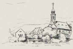 Maria am Wasser Dresden. Maria am Wasser a little church in Dresden Stock Images