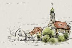 Maria am Wasser Dresden. Maria am Wasser a little church in Dresden Royalty Free Stock Photography