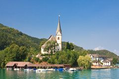 Maria Worth. Church of St. Primus and Felician. Austria Royalty Free Stock Images