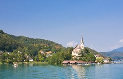 Maria Worth. Church of St. Primus and Felician. Austria Royalty Free Stock Photos