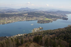 Maria Worth and Woerthersee lake Royalty Free Stock Image