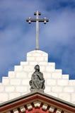 Maria y la cruz Fotografía de archivo