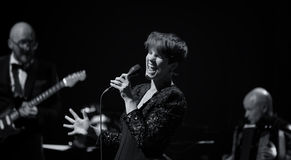 Maria Ylipaa führt Live auf 28. April Jazz durch Lizenzfreie Stockfotografie