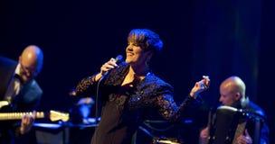 Maria Ylipaa voert levend op 28ste April Jazz uit Royalty-vrije Stock Afbeeldingen