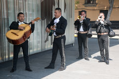 Mariachi σε Plaza Garibaldi στην Πόλη του Μεξικού Στοκ Εικόνες