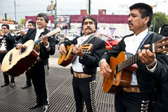Mariachi band. Traditional Mariachi band playing and singing in Mexico City Royalty Free Stock Photography