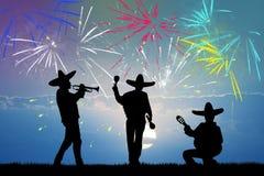 Free Mariachi Band And Firewoks Explosion Royalty Free Stock Image - 81645136