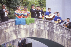 Mariachi band performs for the Clinton/Gore Royalty Free Stock Photos