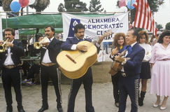 Mariachi band performs for the Democratic campaign Royalty Free Stock Images