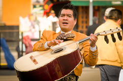 Mariachi band play mexican music Stock Photos