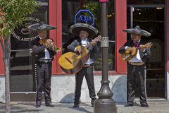 Mariachi Band Plays in Asheville, North Carolina Stock Photography