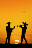 Mariachi band at sunset Royalty Free Stock Photos