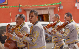Mariachi Band Violin Players Jardin San Miguel de Allende Mexico Royalty Free Stock Image