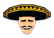 Mariachi Character Isolated On White Background. Vector Mariachi Character Isolated On White Background