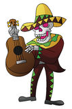 Mariachi Dead Day On Isolated White. Illustrator design .eps 10 Royalty Free Stock Image