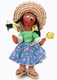 Mariachi Doll. A vintage Mariachi doll from Mexico, isolated on a white background Stock Images