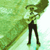 Mariachi, Mexicaanse musicus Stock Afbeelding