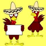 Mariachi mexicain set3 de poulet Photographie stock libre de droits