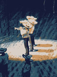Mariachi, mexican musician ban stock illustration