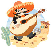 Mariachi - Mexican musician with guitar Royalty Free Stock Photo