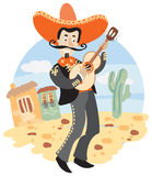 Mariachi - Mexican musician with guitar Royalty Free Stock Photography
