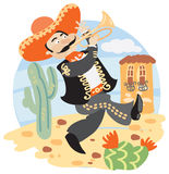 Mariachi - Mexican musician with trumpet Royalty Free Stock Photos