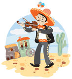 Mariachi - Mexican musician with violin Royalty Free Stock Photography