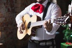 Mariachi mexicano del músico imagen de archivo