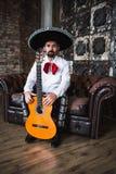 Mariachi mexicano do músico fotos de stock